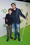 Première Telefilms maandag 5 februari in VUE Hilversum. DE ZES TELEFILMS, VANAF VALENTIJNSDAG WEKELIJKS OP NPO 3<br /> <br /> op de foto:  Edward Stelder en zijn zoon