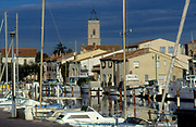 France, Languedoc and Roussillon, Marseillan, marina with pleasure boats.