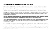 Reviving an Italian medieval village