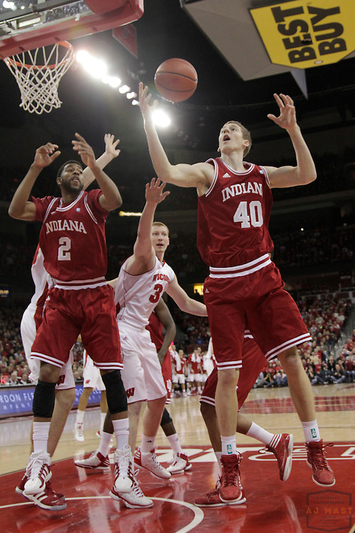 26 January 2012: Indiana Forward Cody Zeller (40)   as the Indiana Hoosiers played the Wisconsin Badgers in a college basketball game in Madison, WI.