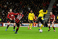 Harry Wilson (22) of AFC Bournemouth shoots at goal during the The FA Cup match between Bournemouth and Arsenal at the Vitality Stadium, Bournemouth, England on 27 January 2020.