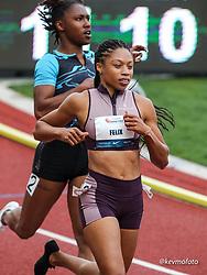 USATF Grand Prix track and field meet<br /> April 24, 2021 Eugene, Oregon, USA<br /> 100, Athleta