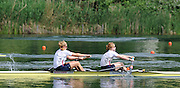 Lucerne, SWITZERLAND. A Final, USA W2-  bow Eleanor LOGAN and Caroline LIND,   silver medalist , at the  2008 FISA World Cup Regatta, Round 2.  Lake Rotsee, on Sunday, 01/06/2008.   [Mandatory Credit:  Peter Spurrier/Intersport Images].Lucerne International Regatta. Rowing Course, Lake Rottsee, Lucerne, SWITZERLAND.