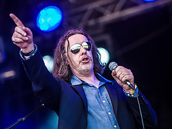 """Jake Black. Alabama 3 play the main stage. Sunday, Rockness 2013, the annual music festival which took place in Scotland at Clune Farm, Dores, on the banks of Loch Ness, near Inverness in the Scottish Highlands. The festival is known as """"the most beautiful festival in the world""""."""