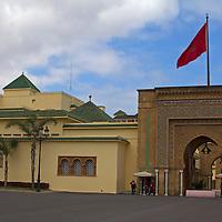 Africa, Morocco, Rabat. Royal Palace of Rabat.