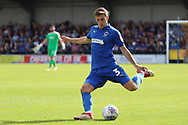 AFC Wimbledon defender Ben Purrington (3) passing the ball during the EFL Sky Bet League 1 match between AFC Wimbledon and Scunthorpe United at the Cherry Red Records Stadium, Kingston, England on 15 September 2018.