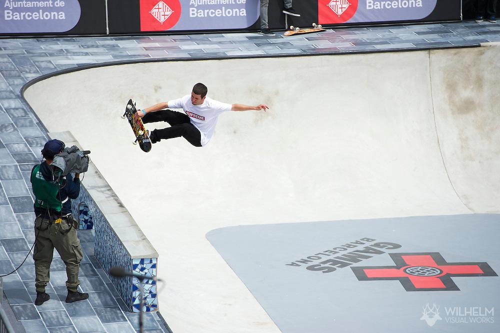 Brad McClain during Men's Skate Park Eliminations at the 2013 X Games Barcelona in Barcelona, Spain. ©Brett Wilhelm/ESPN