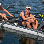 Caitlin O'Reilly , North Shore women's novice eight<br /> <br /> NZ National Club Rowing Championships, Lake Karapiro, Cambridge, New Zealand. Thursday 20th February 2020.  Copyright photo © Steve McArthur / www.photosport.nz