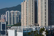 A view of the playground on top of South Island School on Nam Fung Road, Hong Kong.