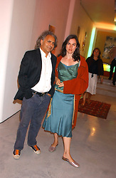 Screenwriter HANIF KUREISHI and his wife MONIQUE at a party to celebrate the publication of 'Shalimar The Clown' by Salman Rushdie, held at the David Gill Galleries, 3 Loughborough Street, London SE11 on 7th September 2005.<br /><br />NON EXCLUSIVE - WORLD RIGHTS