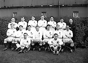 Irish Rugby Football Union, Ireland v England, Five Nations, Landsdowne Road, Dublin, Ireland, Saturday 9th February, 1957,.9.2.1957, 2.9.1957,..Referee- A I Dickie, Scottish Rugby Union, ..Score- Ireland 0 - 6 England, ..English Team, ..R Challis, Wearing number 1 English jersey, Full Back, Bristol Rugby Football Club, Bristol, England, ..P H Thompson, Wearing number 5 English jersey, Left Wing, Headingly Rugby Football Club, Leeds, England, ..L B Cannell, Wearing number 4 English jersey, Left centre, St Mary's Hospital Rugby Football Club, London, England,..J Butterfield, Wearing number 3 English jersey, Right Centre, Northhampton Rugby Football Club, Northhampton, England, ..P B Jackson, Wearing number 2 English jersey, Right Wing, Coventry Rugby Football Club, Coventry, England, ..R M Bartlett, Wearing number 6 English jersey, Outside Half, Harlequins Rugby Football Club, London, England, ..R E G Jeeps, Wearing number 7 English jersey, Scrum Half, Northhampton Rugby Football Club, Northhampton, England, ..G W Hastings, Wearing number 8 English jersey, Forward, Gloucester Rugby Football Club, Gloucester, England, ..E Evans, Wearing number 9 English jersey, Forward, Sale Rugby Football Club, Manchester, England,..C R Jacobs, Wearing number 10 English jersey, Forward, Northhampton Rugby Football Club, Northhampton, England, ..R W D Marques, Wearing number 11 English jersey, Forward, Cambridge University Rugby Football Club, Cambridge, England, and, Harlequins Rugby Football Club, London, England, ..J D Currie, Wearing number 12 English jersey, Forward, Oxford University Rugby Football Club, Oxford, England, and, Clifton Rugby Football Club, Bristol. England, ..P G D Robbins, Wearing number 13 English jersey, Forward, Oxford University Rugby Football Club, Oxford, England, and, Coventry Rugby Football Club, Coventry, England, ..A Ashcroft, Wearing number 14 English jersey, Forward, Waterloo Rugby Football Club, Liverpool, England,..R Higgins, Wearing number 15 Engli