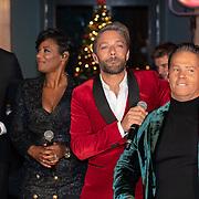 NLD/Hilversum/20181002 - Artiesten Holland zingt Kerst 2018, Dwight Dissel en Edsilia Rombley, Tommie Christiaan en Danny de Munk