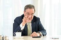 27 NOV 2020, BERLIN/GERMANY:<br /> Armin Laschet, CDU, Ministerpraesident Nordrhein-Westfalen, waehrend einem Interview, Landesvertretung Nordrhein-Westfalen<br /> IMAGE: 20201127-01-007