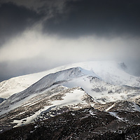 The Mamores and Ben Nevis from Meall Dearg