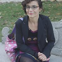Mariolina Venezia, Italian writer, in Villa Sciarra park, Rome.<br /> 7th October 2010<br /> <br /> Photograph by Rino Bianchi/Writer Pictures<br /> <br /> WORLD RIGHTS - NO ITALY