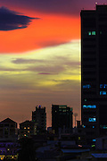 28 JUNE 2013 - PHNOM PENH, CAMBODIA: Sunset in Phnom Penh, Cambodia.     PHOTO BY JACK KURTZ