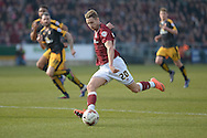 Northampton Town Midfielder Lee Martin shoots  during the Sky Bet League 2 match between Northampton Town and Cambridge United at Sixfields Stadium, Northampton, England on 12 March 2016. Photo by Dennis Goodwin.