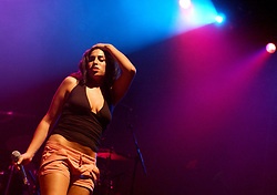 Amy Winehouse performs at the V Festival in Chelmsford.