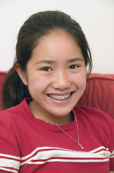 Young girl; smiling,