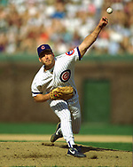 CHICAGO - 1993:  Randy Myers of the Chicago Cubs pitches during an MLB game at Wrigley Field in Chicago, Illinois during the 1993 season. (Photo by Ron Vesely)  Subject:   Randy Myers