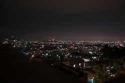 Cityscape at night lights Kathmandu