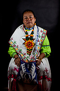 Donna indigena, partecipante del CNI, cultura Huichol