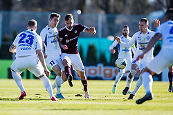 Luka Kerin of NK Celje and Marko Gajic of NK Triglav  during the football match between NK Triglav Kranj and NK Celje in 25. Round of Prva liga Telekom Slovenije 2019/20, on March 8, 2020 in Sportni park Kranj, Slovenia. Photo by Grega Valancic / Sportida