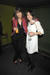 Left to right, CHRISSIE HYNDE and KT TUNSTALL at 'Not Another Burns Night' in association with CLIC Sargebt and Children's Hospice Association Scotland held at ST.Martins Lane Hotel, London on 3rd March 2008.<br /><br />NON EXCLUSIVE - WORLD RIGHTS