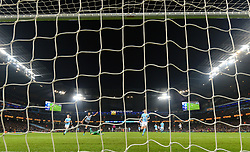 Newcastle United's Jacob Murphy scores his side's first goal of the game