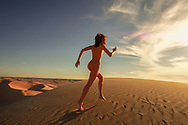 Editorial Beauty Nude of model Hedy at the Algodones Dunes Glamis California.