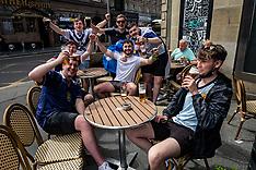 Scotland fans start on the beers early, Edinburgh, 18 June 2021