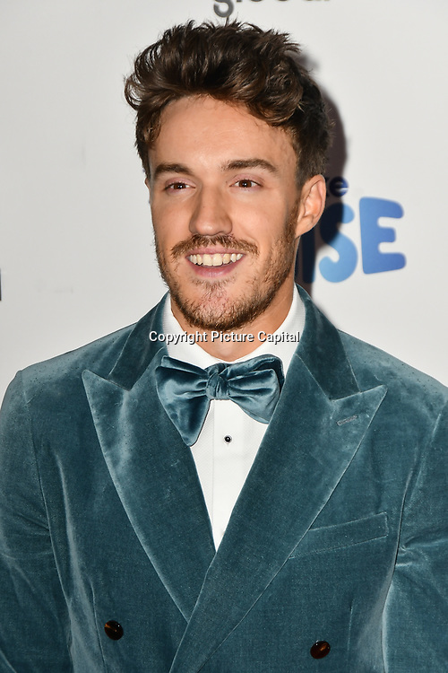 James Stewart arrivers at the Global's Make Some Noise Night at Finsbury Square Marquee on 20 November 2018, London, UK.