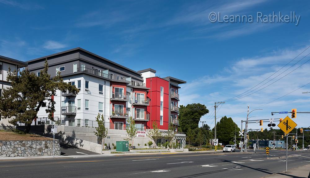 Condo apartment building at 840 Admirals Way in Esquimalt, BC