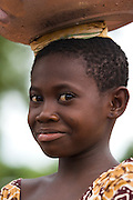 Portrait of young girl in Tamale, northern Ghana, on Sunday June 3, 2007.