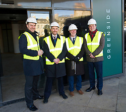 Pictured: Chris Kerr, Project manager for Greenside House, Keith Mackie (Craig Stewart Group), Kevin Stewart and Chris Stewart  (Craig Stewart Group)<br /> When visiting Greenside House, a newly redevolped 36,000 square feet of Grade A office accommodation, in Edinburgh today  Housing minister Kevin Stewart unveiled details of an GBP8.9 million award to refurbish office space.<br /> <br /> Ger Harley | EEm 28 February 2017