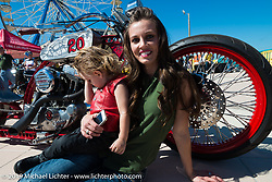 Jessie and James Wells came as spectators to take in the Boardwalk Bike Show during Daytona Bike Week. FL, USA. March 14, 2014.  Photography ©2014 Michael Lichter.