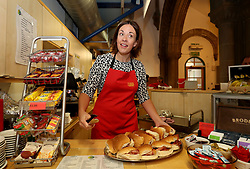 Scottish Labour leader Kezia Dugdale serves breakfast at the Eric Liddell Centre in Edinburgh while on the last full day of campaigning for the General Election.