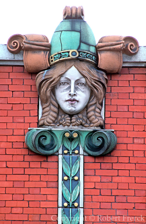 CHICAGO, ARCHITECTURE terra cotta relief of a viking heroine