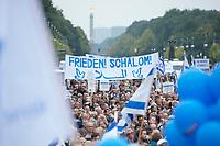 """14 SEP 2014, BERLIN/GERMANY:<br /> Kundgebung des Zentralrats der Juden in Deutschland unter dem Motto """"Steh auf! Nie wieder Judenhass!"""", vor dem Brandenburger Tor<br /> IMAGE: 20140914-01<br /> KEYWORDS: Demo, Demonstration"""