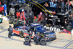 March 23, 2019 - Martinsville, VA, U.S. - MARTINSVILLE, VA - MARCH 23:  #18: Harrison Burton, Kyle Busch Motorsports, Toyota Tundra Safelite AutoGlass pits his race truck during the 21st running of the NASCAR Gander Outdoors Truck Series TruNorth Global 250 race on March 23, 2019 at the Martinsville Speedway in Martinsville, VA.  (Photo by David John Griffin/Icon Sportswire) (Credit Image: © David J. Griffin/Icon SMI via ZUMA Press)