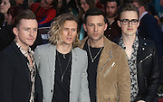 April 26, 2016 - McFly attending 'Captain America: Civil War' European Film Premiere at Vue Westfield in London, UK.<br /> ©Exclusivepix Media