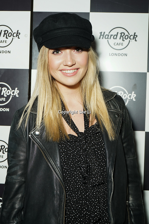 Hard Rock Cafe London, England, UK. 4th Dec 2017. Tilly Keeper Arrivals at Fight For Life Charity Event of Christmas festivities and entertainment for children with cancer.