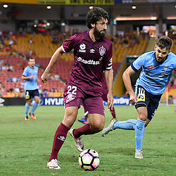 BRISBANE, AUSTRALIA - FEBRUARY 3: Thomas Broich of the Roar in action during the round 18 Hyundai A-League match between the Brisbane Roar and Sydney FC at Suncorp Stadium on February 3, 2017 in Brisbane, Australia. (Photo by Patrick Kearney/Brisbane Roar)
