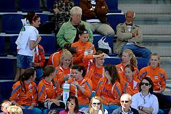 02-06-2012 VOLLEYBAL: EK BEACHVOLLEYBAL: SCHEVENINGEN<br /> Support, publiek entertainment Oranje jeugd team meisjes<br /> ©2012-FotoHoogendoorn.nl