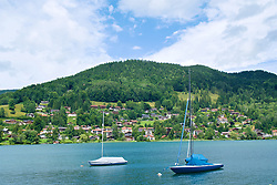ROTTACH-EGERN, GERMANY - Wednesday, July 26, 2017: Boats on Lake Tegernsee in Rottach-Egern, the base for Liverpool's preseason training camp in Germany. (Pic by David Rawcliffe/Propaganda)