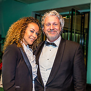 NLD/Amsterdam/20161208 - Vipnight 10de Masters of LXRY, Mark Teurlings en partner  Yvette Rommy
