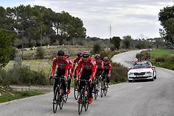 December 15, 2017 - Majorca, SPAIN - Belgian Jelle Vanendert of Lotto Soudal and Danish Lars Bak of Lotto Soudal pictured in action during a press day during Lotto-Soudal cycling team stage in Mallorca, Spain, ahead of the new cycling season, Friday 15 December 2017. BELGA PHOTO DIRK WAEM (Credit Image: © Dirk Waem/Belga via ZUMA Press)