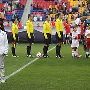 Tim Cahill's son, 11-year-old aspiring artist Kyah Cahill, sings the US national anthem at Red Bull Arena before the New York Red Bulls Vs Chicago Fire, Major League Soccer regular season match at Red Bull Arena, Harrison, New Jersey. USA. 10th May 2014. Photo Tim Clayton