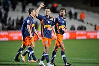 FOOTBALL - FRENCH CHAMPIONSHIP 2010/2011 - L1 - MONTPELLIER HSC v LILLE OSC - 20/02/2011 - PHOTO SYLVAIN THOMAS / DPPI - EMIR SPAHIC (MON) / ROMAIN PITAU (MON)