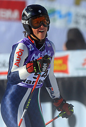 Irene Curtoni of Italy after second run at Maribor women giant slalom race of Audi FIS Ski World Cup 2008-09, in Maribor, Slovenia, on January 10, 2009. (Photo by Vid Ponikvar / Sportida)